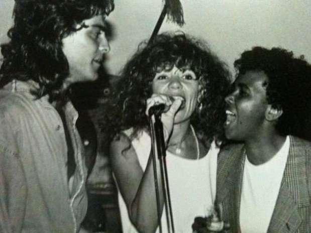 Junno canta com Elba Ramalho e Sandra de Sá nos anos 80 Foto: Instagram / Reprodução