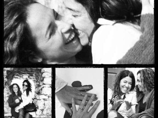 Fotos publicadas pela cantora ao lado da jornalista Malu Viçosa Foto: Instagram / Reprodução
