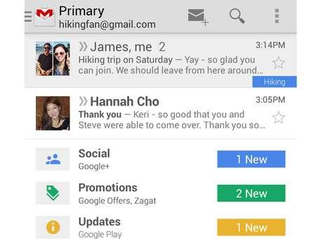 Gmail também chegou aos celulares Foto: Divulgação