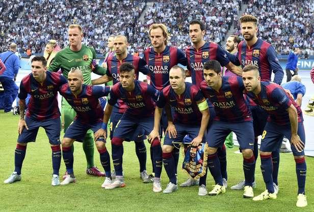 Barcelona conquistou seu quinto título da Liga dos Campeões Foto: Lluis Gene / AFP