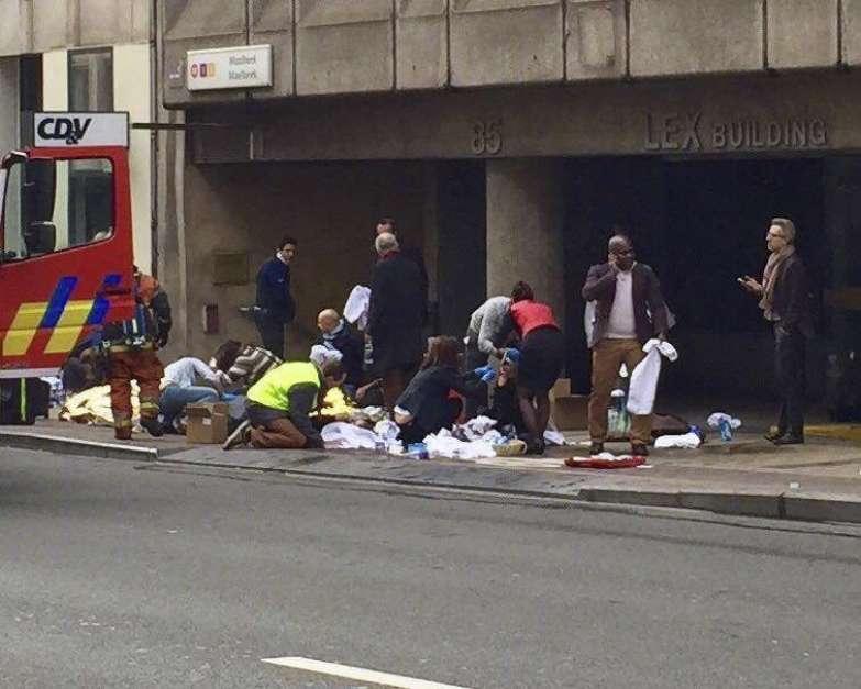 Atentados terroristas no aeroporto e metrô de Bruxelas, na Bélgica, deixaram vários mortos Foto: EFE