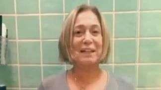 Susana Vieira encara desafio do balde gelado