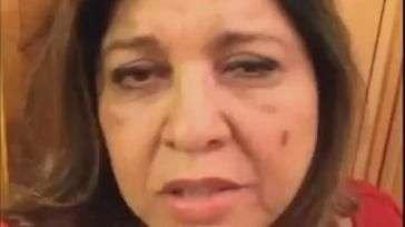 Roberta Miranda grava vídeo em que dá tapa no próprio rosto