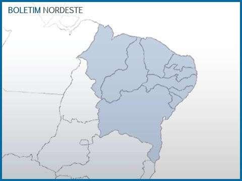 Previsão Nordeste - Umidade aumenta no interior da Região