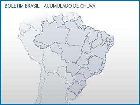 Previsão de chuva para o Brasil nos próximos dias.