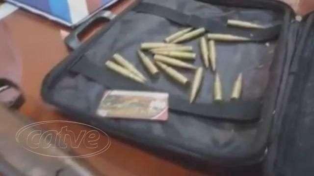 Polícia do Paraguai prende seis homens com armas e munições