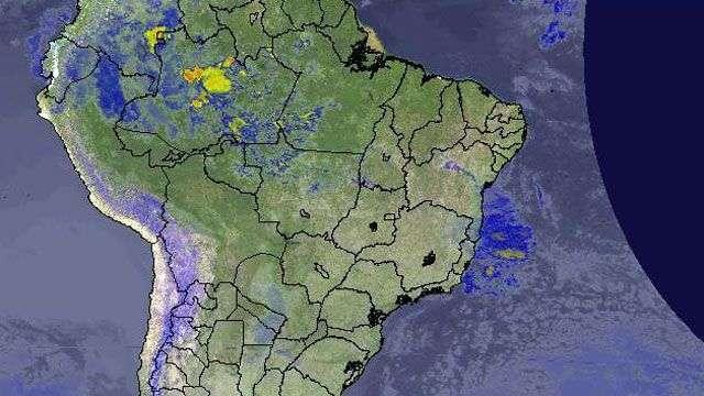 Previsão Brasil  Frente fria no Sudeste