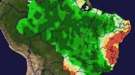 Brasil terá muita chuva na segunda quinzena de janeiro
