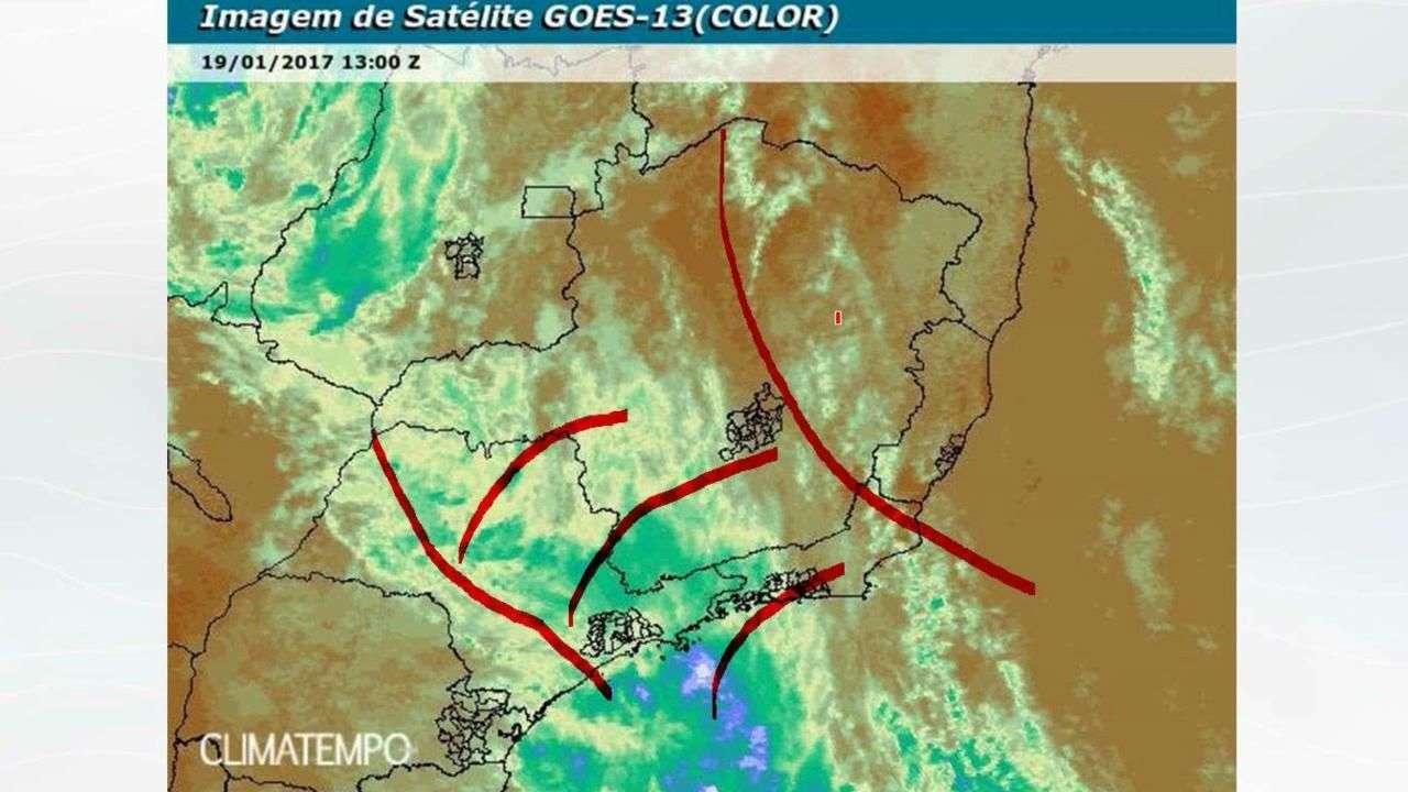 Chuva volumosa não chega ao ES e ao nordeste de MG