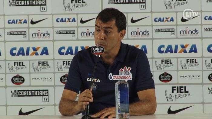 Fabio Carille reclama da arbitragem e enaltece entrega do Corinthians