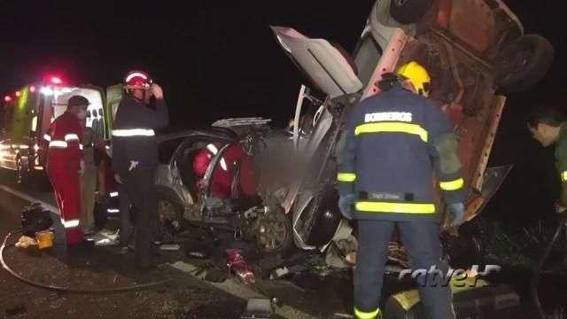 Quatro morrem em grave acidente na BR 277, em Santa Tereza do Oeste