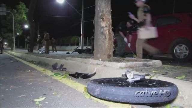 Imagens flagram acidente que matou motoboy em Ponta Grossa