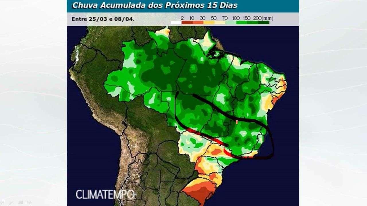 Chuva no BR para 15 dias (até 8/4)