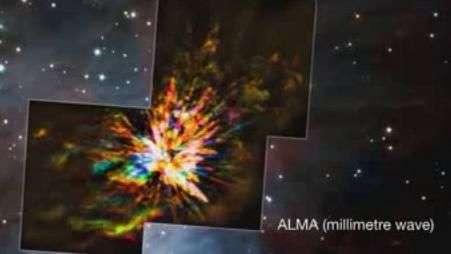 Astrônomos detectam explosões durante nascimento de estrelas