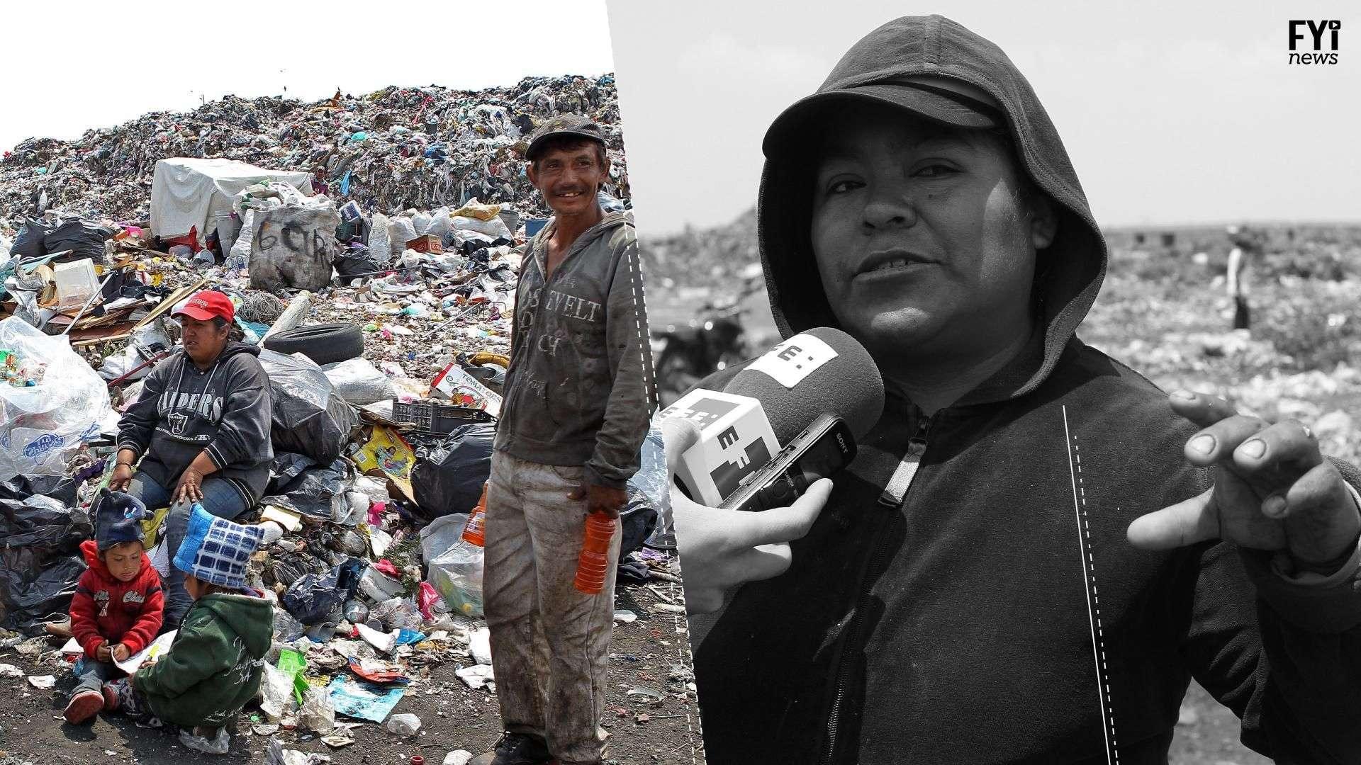 A vida de catadores de lixo no México