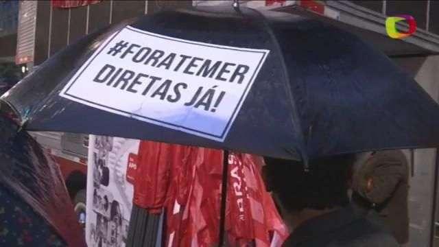 Manifestantes voltam às ruas para pedir saída de Temer e eleições diretas