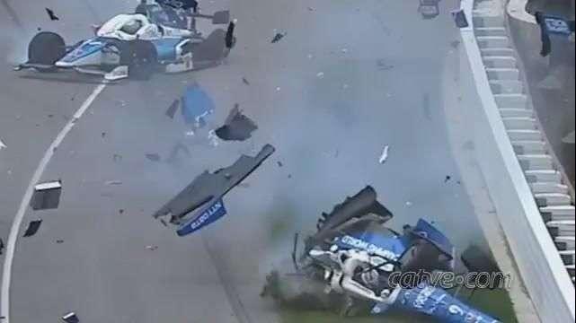 500 Milhas de Indianápolis : piloto sofre acidente assustador sai ileso