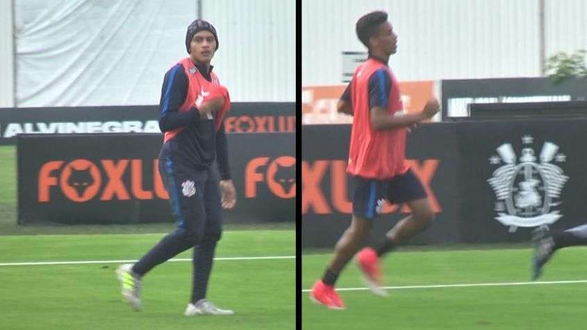 Gols, tabelas e chapéu! Dupla 'Jabedrinho' inferniza treino do Corinthians