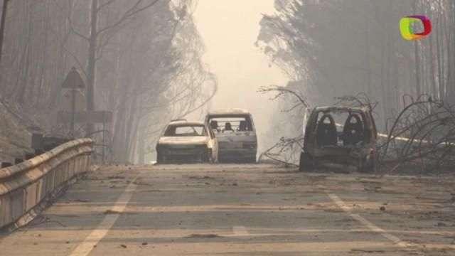 Quase 2 mil bombeiros combatem incêndio em Portugal