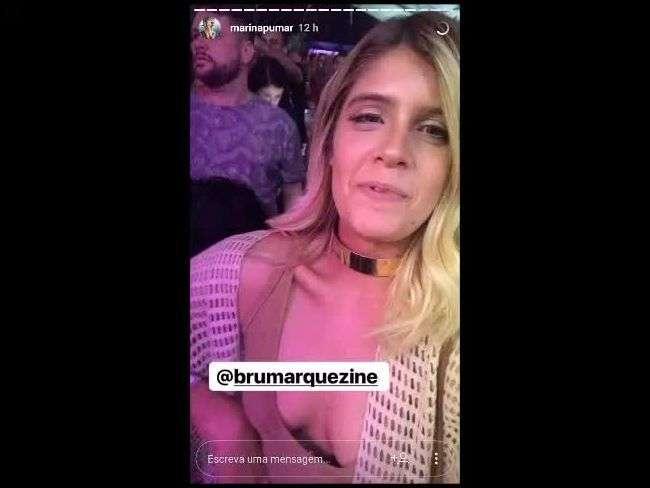 Bruna Marquezine e Neymar se encontram em show e fã registra abraço do ex-casal