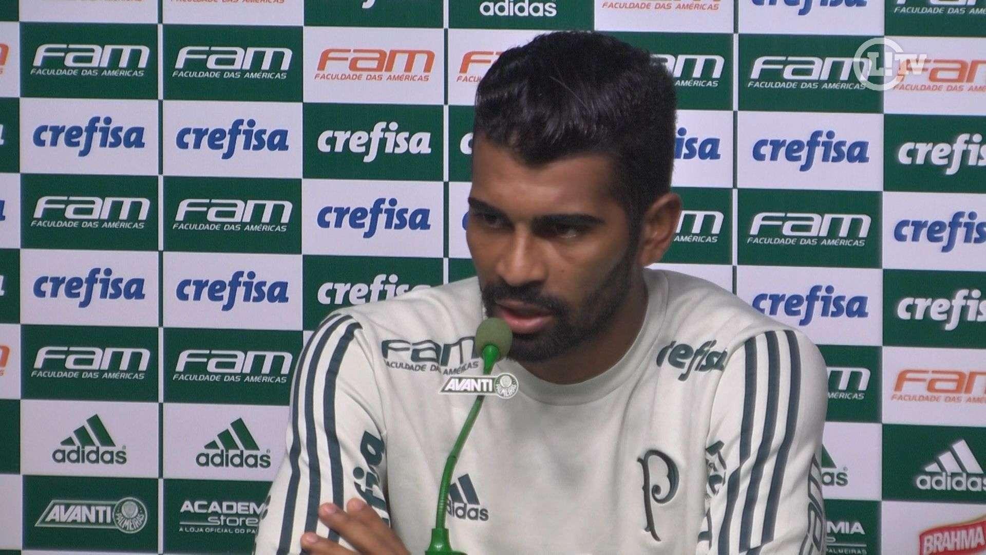 Vaga na Libertadores é muito pouco, diz volante do Palmeiras