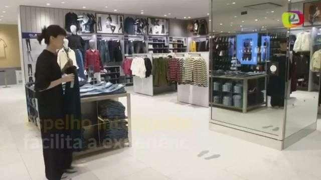 """Espelho mágico dá """"dicas"""" de estilo durante a compra no Japão"""
