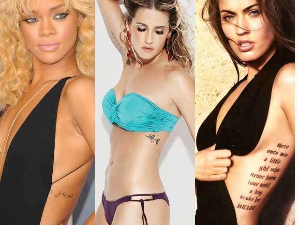 As mulheres estão cada vez mais adeptas às tatuagens: é só dar uma olhada nas fotos das famosas para ver os mais diferentes estilos e tamanhos. Frases, símbolos, flores, borboletas, corações e outros formatos aparecem desde os lugares mais escondidos, até os pontos mais ousados do corpo. Rihanna, Megan Fox, Miley Cyrus, Vanessa Hudgens são algumas das celebridades internacionais que já enfrentaram a agulha, enquanto que, dentro do território nacional, estão nomes como Deborah Secco, Giovanna Ewbank, Luana Piovani, Gisele Bündchen e Isis Valverde. Confira na galeria a seguir os estilos de tatuagem adotados pelas estrelas brasileiras e internacionais  Foto: Divulgação/Getty Images