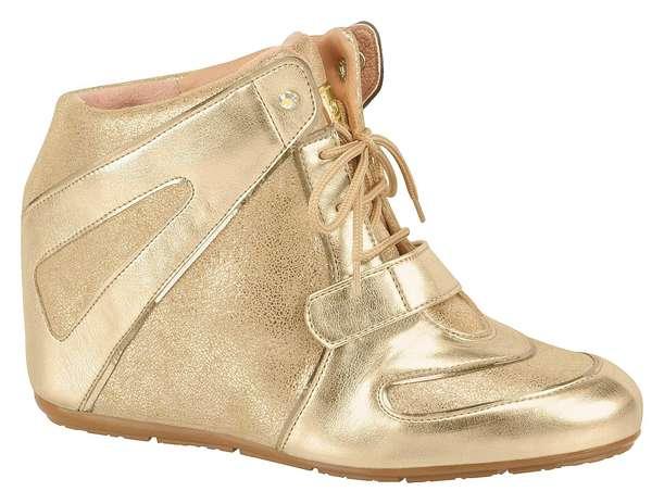 O modelo dourado é da marca Moleca. Preço sugerido: R$ 139,90. (51) 3584-2200 Foto: Divulgação