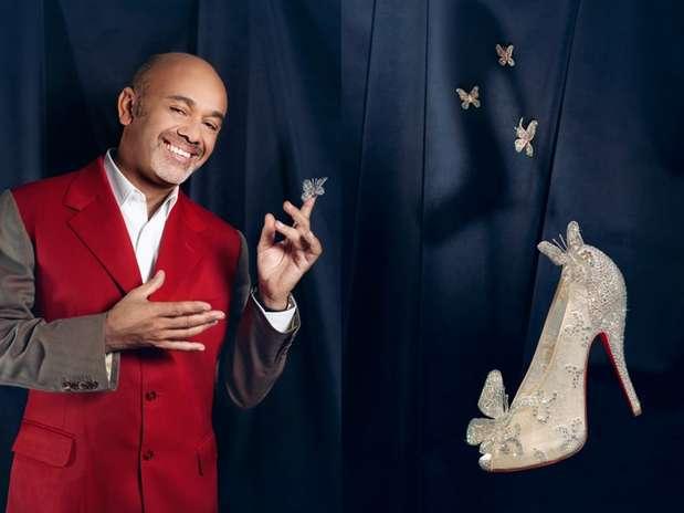 O designer de sapatos recriou o modelo usado por Cinderela a pedido da Disney Foto: Divulgação