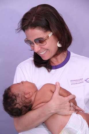 A atriz Giovanna Antonelli participou nesta quinta-feira (5) do lançamento da campanha Prematuro Imunizado é Prematuro Protegido, no Rio de Janeiro Foto: Roberto Filho/AgNews
