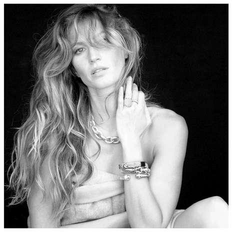 Gisele Bündchen estrelou a campanha de joias de David Yurman Foto: Grosby Group