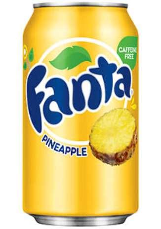 Fanta abacaxi: a Fanta é uma das marcas com sabores mais versáteis do grupo Coca-Cola. Nos Estados Unidos, é possível encontrá-la com toque de abacaxi Foto: Divulgação