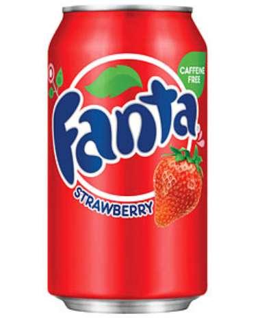 Fanta morango: assim como a Coca-Cola Cherry, esse sabor também chegou a ser vendido no Brasil, mas não fez sucesso. A Fanta morango é comercializada nos Estados Unidos Foto: Divulgação