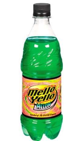 Mello Yello Melon: tudo bem que estamos acostumados com refrigerante de uva ou laranja, mas algumas frutas são exóticas para combinar com a bebida. Esse tem gostinho de melão e é do grupo Coca-Cola Foto: Divulgação