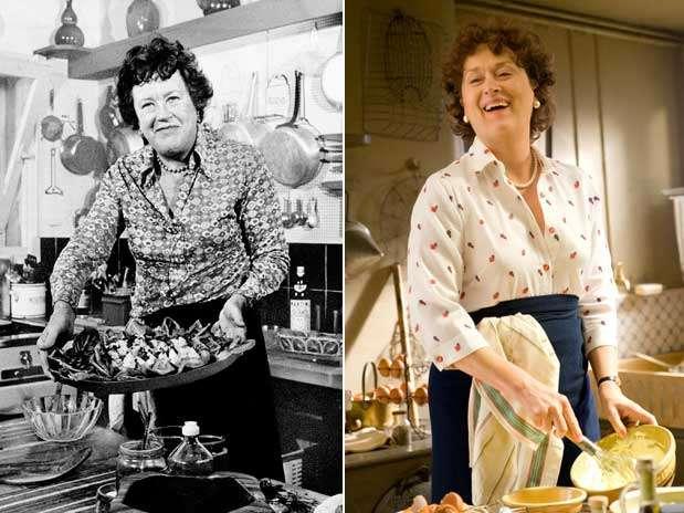 Julia Child teve parte de sua vida contada no filme 'Julie & Julia', no qual Meryl Streep interpreta a chef americana que popularizou a gastronomia francesa na TV Foto: AP/Divulgação