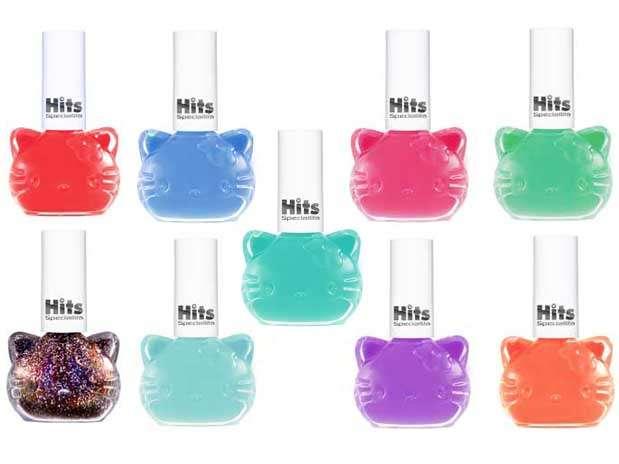 Esmaltes da Hello Kitty já estão disponíveis em nove cores diferentes Foto: Divulgação