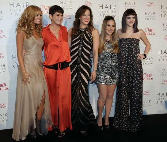 Time de famosas marcou presença no Hair Fashion Show na noite desta quinta-feira (30), na capital paulista Foto: Amauri Nehn e Francisco Cepeda  / AgNews