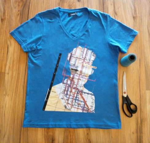Para fazer a sacola, você vai precisar de uma camiseta estampada, uma tesoura, linha de costura da cor da peça de roupa e máquina de costura. Se preferir, pode costurar à mão Foto: Divulgação