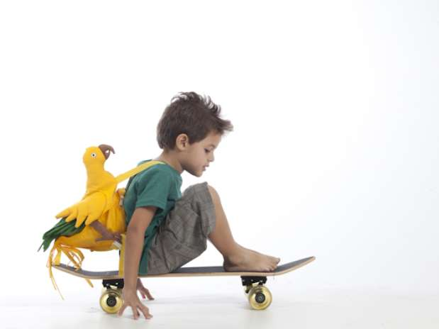 Camiseta infantil de malha ecológica feita com 50%de poliésterreciclado de PET e 50% de algodão Foto: Divulgação