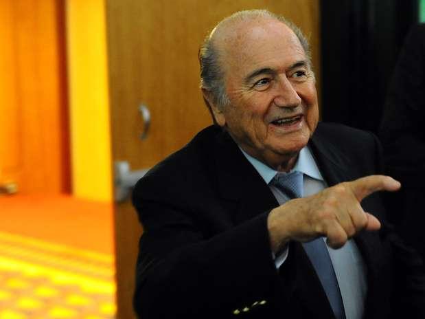 """Blatter aprovaria um ex-jogador no topo das \""""grandes entidades\"""" do futebol Foto: Marcelo Pereira / Terra"""