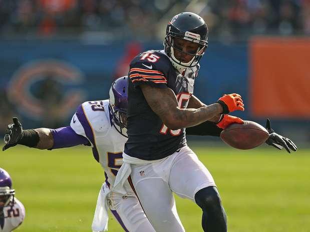 """Brandon Marshall, do Chicago Bears, diz ter ouvido \""""histórias loucas\"""" de atletas que tentam melhorar rendimento Foto: Getty Images"""