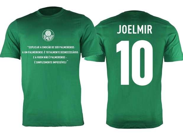 Camisa do Palmeiras recebeu layout especial para homenagear o jornalista Joelmir Beting Foto: Reprodução