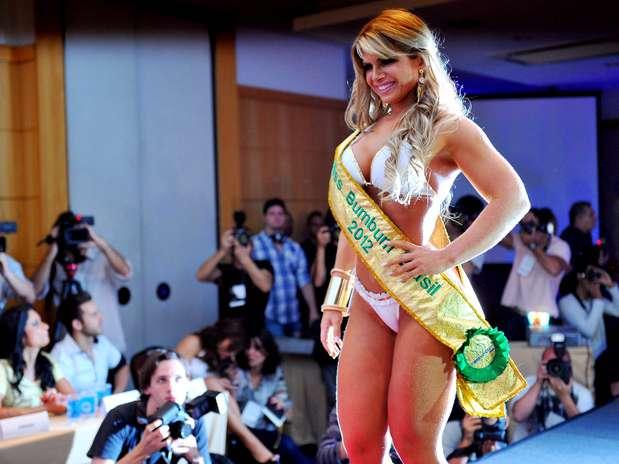 Carine Felizardo, candidata do Estado do Pará, levou a faixa de Miss Bumbum 2012 Foto: Edson Lopes Jr. / Terra