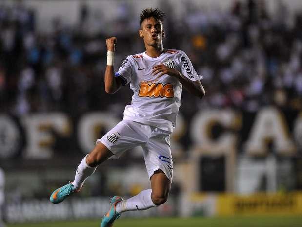 Neymar marcou dois gols e deu uma assistência contra o Palmeiras Foto: Ivan Storti / Agência Lance