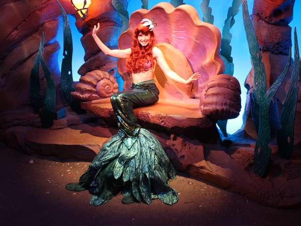 Atração da sereia Ariel Foto: Ana Carolina Moura / Terra