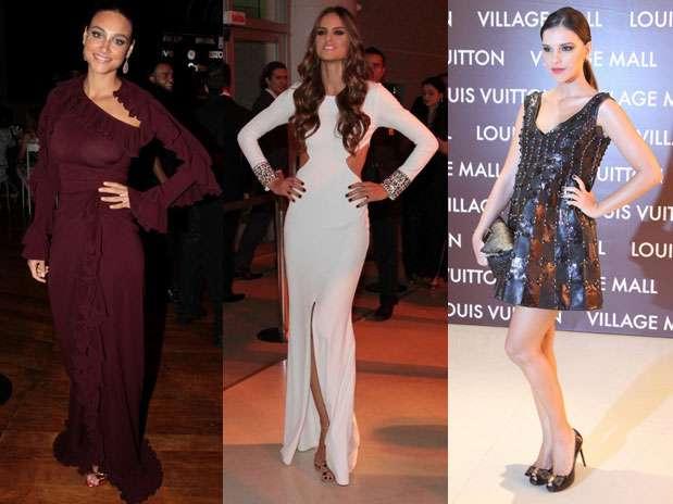Acertar no comprimento do vestido e nos elementos do look nem sempre é tarefa fácil e até mesmo as famosas derrapam às vezes Foto: AgNews