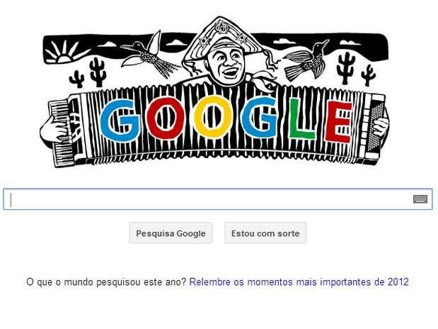 Luiz Gonzaga, o Rei do Baião, é lembrado pelo Google por seu centenário Foto: Reprodução