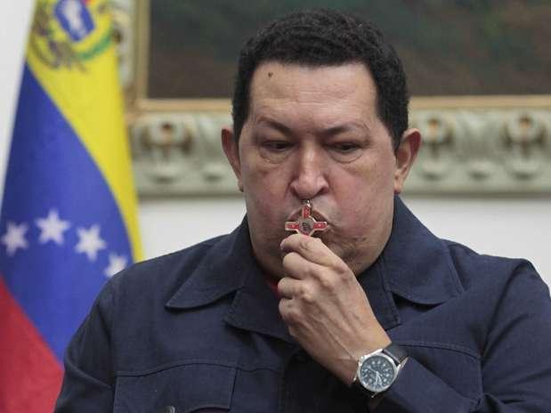 O presidente venezuelano, Hugo Chávez, foi operado em Havana no último dia 11 de dezembro Foto: Reuters