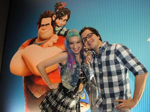 Rafael Cortez e MariMoon foram à pré-estreia de 'Detona, Ralph' Foto: Francisco Cepeda / AgNews