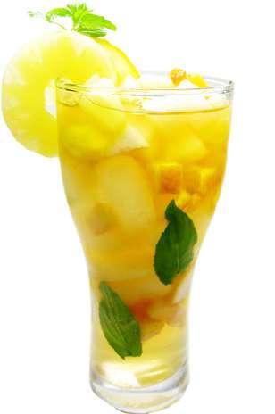 Mix de abacaxi com hortelã tem ação diurética e auxilia na digestão Foto: Shutterstock